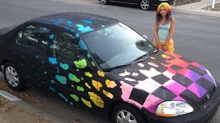 Chalk Car + Blacklight, & Scribbler 3d Pen Art!
