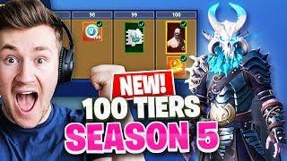 *NEW* SEASON 5 TIER 100 UNLOCKED | Fortnite: Battle Royale