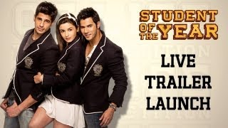 Student Of The Year - Student Of The Year - Trailer Launch - LIVE from PVR Juhu, Mumbai