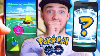 Pokemon GO Gameplay - GYM BATTLES & HOW TO EVOLVE!