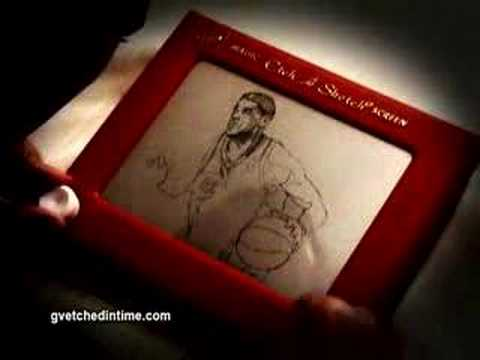 NBA Finals Lebron Etch A Sketch