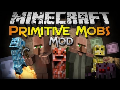 Minecraft Mod Showcase: Primitive Mobs Mod - 10 New Kinds of Mobs!