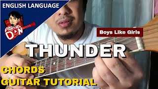 THUNDER CHORDS (Boys Like Girls) beginners guitar tutorial by Kurt Cobain Fan