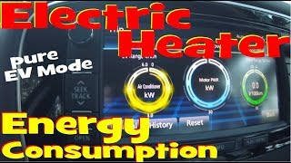 EP225 - Electric Heater Test and energy consumption in the PHEV.