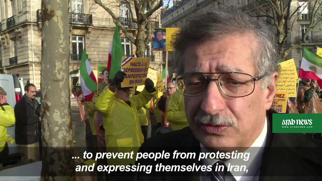 Exiled Iranian opposition holds protest in Paris