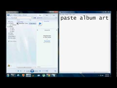 How to set a album art to any song with windows media player!!
