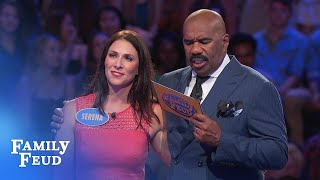 Serena and Tao take on Fast Money! | Family Feud