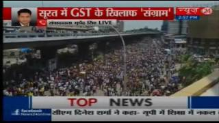 Textile traders protest against GST in Surat