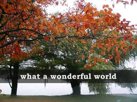WHAT A WONDERFUL WORLD - Louis Armstrong (Lyrics)