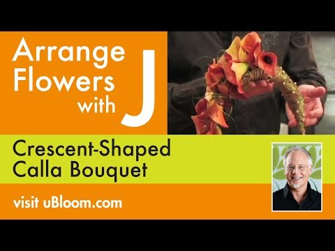 How to Arrange Flowers- Calla Lily Cascade Wedding Bouquet!