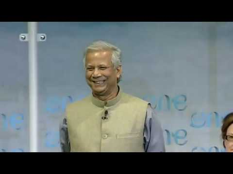 Inspiring speech for a better world by Bangladeshi Muhammad Yunus of Grameen Bank