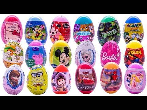 SURPRISE EGGS PEPPA PIG MICKEY MOUSE FROZEN Маша и Медведь SUPER MAR