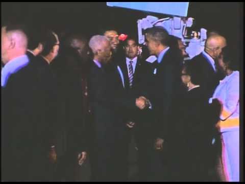 President Barack Obama Arrives in Jamaica - April 8, 2015