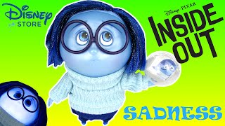 Disney Inside Out Deluxe Talking Sadness Doll Toy Review Unboxing Disney Store Exclusive
