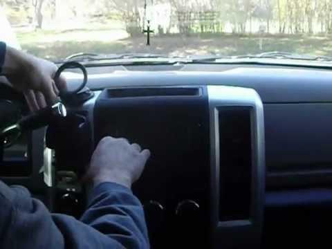 dodge ram  radio removal  center console youtube