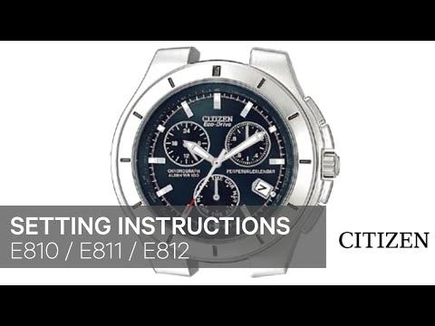 CITIZEN E810 E811 E812 Setting Instruction