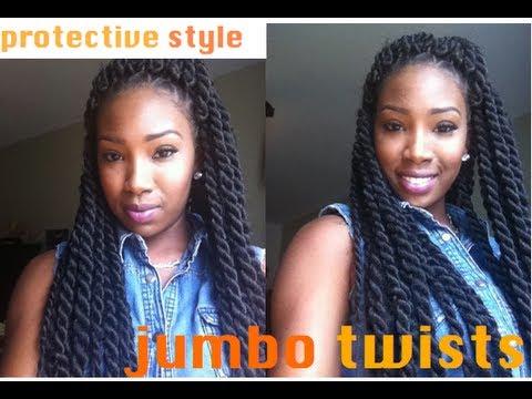Jumbo Senegalese Twists Tutorial