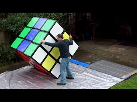 Tony Fisher's LARGEST RUBIK'S CUBE in the world !! 100% genuine fully functional 1.56m 3x3x3 puzzle