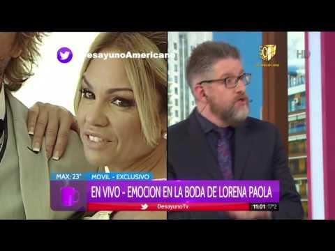 Lorena Paola se casó con Esteban Gatti