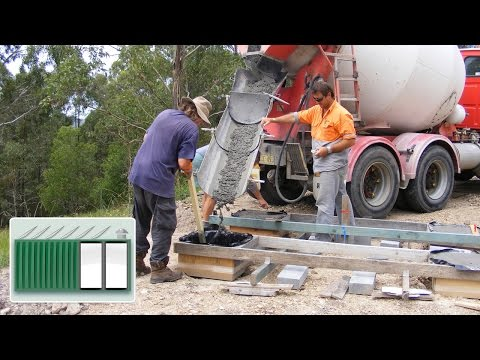 Shipping container house foundations youtube for Shipping container pier foundation