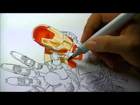 IRON MAN- COPIC MARKER DRAWING-IRON MAN 3