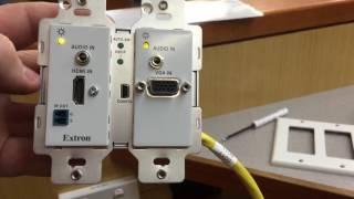 Extron DTP UWP 232 D - setup