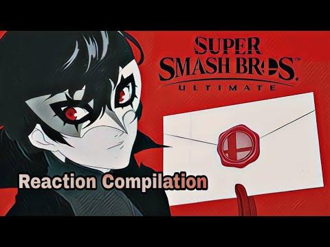 Super Smash Bros Ultimate - Persona 5 Joker Fighter Reveal Trailer - Reaction Compilation