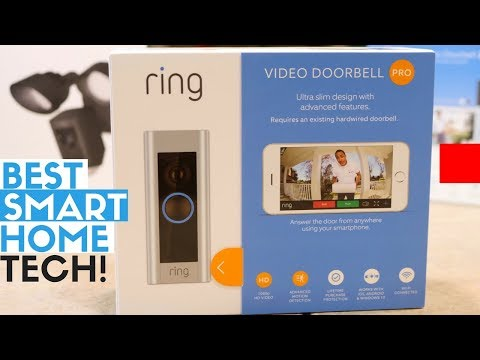 Best Smart Home Tech for Outdoors - Ring Video Doorbell 2, Pro & Ring Floodlight Cam