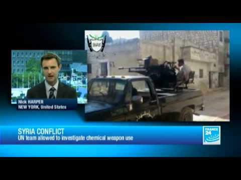 Syria conflict : a UN investigation to be conducted on 3 alleged chemical incidents