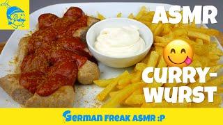 "ASMR eating ""Currywurst"" (German sausage, German fast food)🇩🇪"