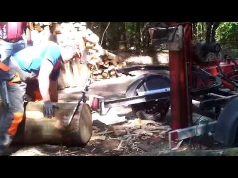 Holzspalter Vogesenblitz VP16 umbau mit Seilwinde, Mobil