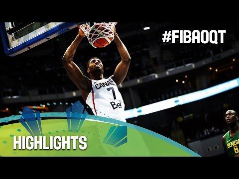 Canada v Senegal - Highlights - 2016 FIBA Olympic Qualifying Tournament - Philippines