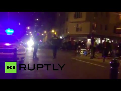 Paris attacks RAW footage form the streets
