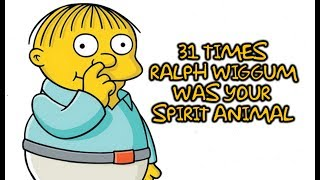 "31 Times Ralph Wiggum From ""The Simpsons"" Was Your Spirit Animal"
