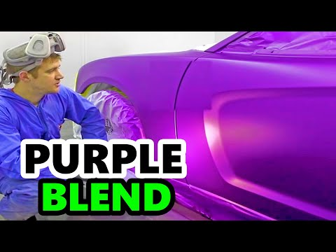 Dodge Charger Purple Paint Job
