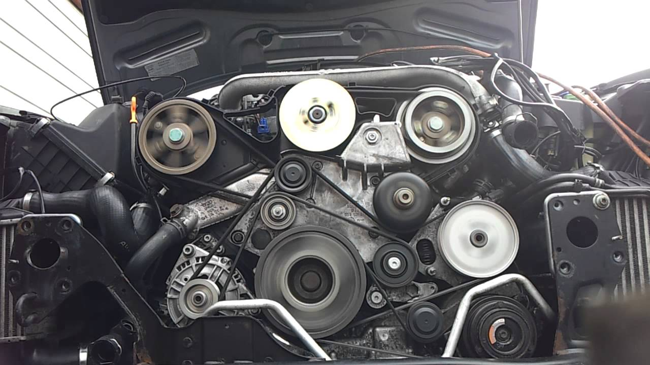 Audi A4 2 5 Tdi Engine Belt Repair Youtube