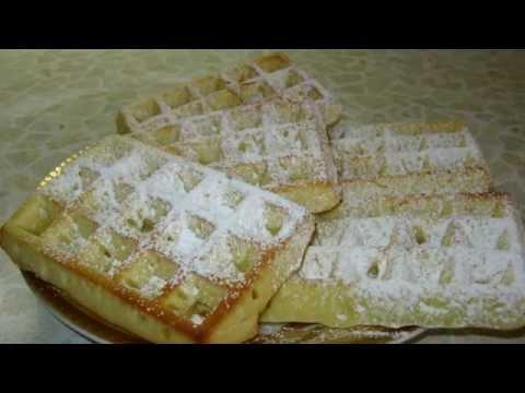 Вафли бельгийские в духовке