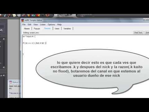 tutorial scripting irc basico 1 (script de kick y kickban)