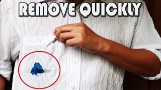 How to Remove Ink from Clothes?