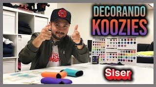 Decorando Koozies con Vinil Textil