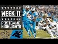 Saints vs. Panthers (Week 11) | Game Highlights | NFL