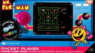 Ms. Pac Man Pocket Player Mini Portable by My Arcade  Review - The No Swear Gamer