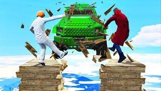 CARS vs. COLLAPSING BRIDGE! (GTA 5 Minigames)