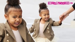 "North West Tells Paparazzi ""No Pictures!"" While Arriving To Ballet Class 10.28.15"