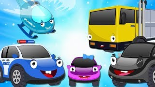 Bob the Police Car to Rescue Missing Baby Car from thief Yellow Truck - Cartoon for Kids