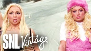 Donatella Versace Goes Skiing - SNL