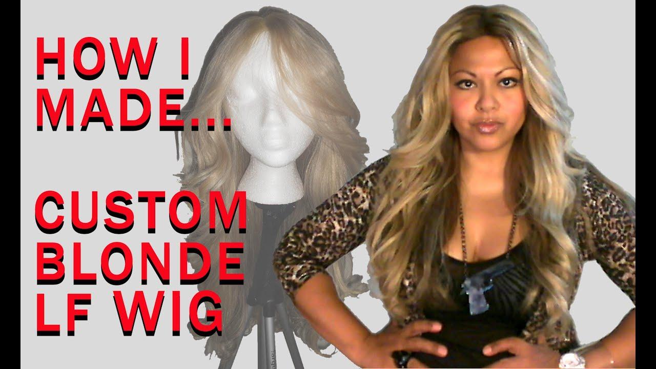 Custom Blonde Wig Dark Roots Youtube