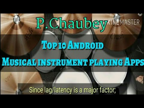 Top 10 Android Music Instrument playing apps, many instruments...