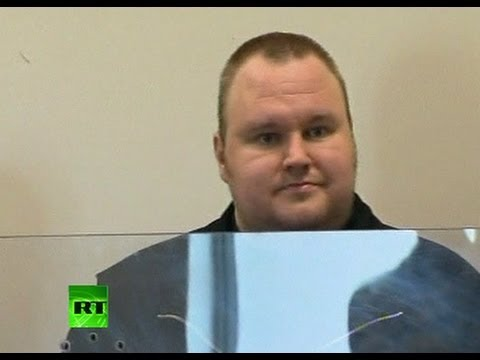 First video: Megaupload founder Kim Dotcom appears in court