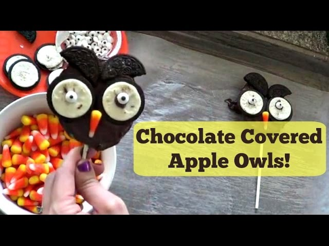 Chocolate Apple Owls | Pintober